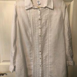 Longer Linen Blouse or Jacket